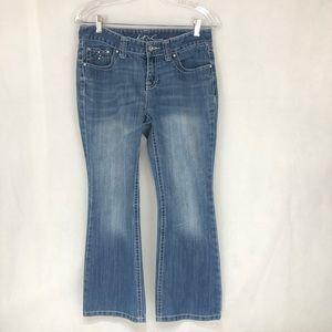 INC Women's Jeans Reg Fit Bootleg Shirt 8ps